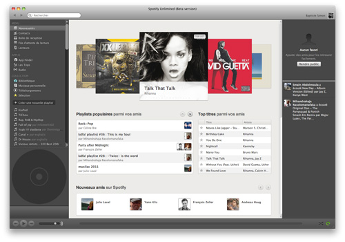 Applis Spotify : Nouveautés