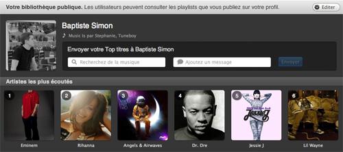 Applis Spotify : Profil