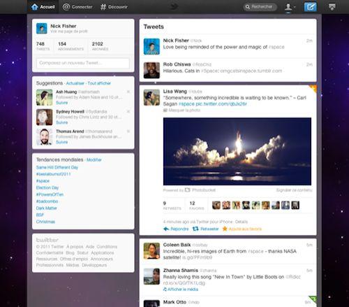Twitter : Nouvelle interface utilisateur