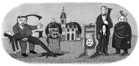 Google : Doodle Charles Addams